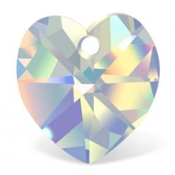 HEART 3pcs 18 MM CRYSTAL AB-PRECIOSA