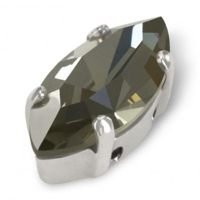 NAVETTA MM15x7 BLACK DIAMOND-ARGENTO-3PZ