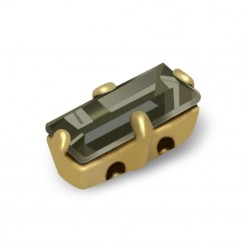 BAGUETTE MM7x3 SCHWARZ DIAMOND-GOLD-5PZ