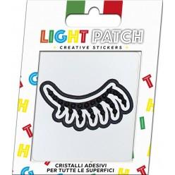 Light Patch Occhio Chiuso Sticker Cristalli Jet