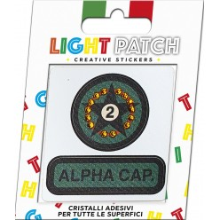 Light Patch Stella Militare Sticker Cristalli Light Topaz