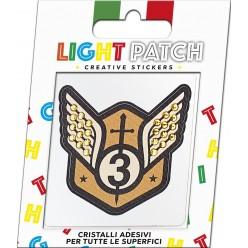 Light Patch Stemma Militare 1 Sticker Cristalli Sun