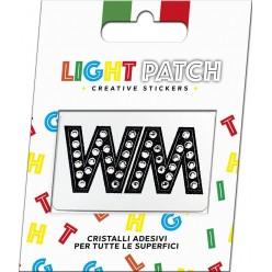 Light Patch Lettere WW Sticker Cristalli Nero Cry