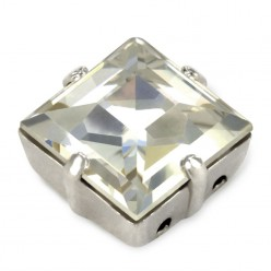 SQUARE MM10x10 CRYSTAL-SILVER-3PZ