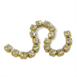 METAL CHAIN SS12 (3, 5 mm) CRYSTAL-gold-1MT