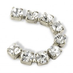 METALL CHAIN SS18 (4,5 mm) CRYSTAL-ARGENTO-1MT
