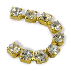 METALL CHAIN SS18 (4,5 mm) CRYSTAL-ORO-1MT